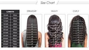 18 Inch Hair Chart