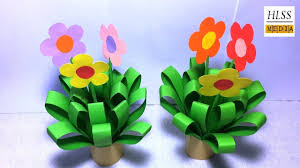 Color Paper Flower Design Simple And Easy To Make Flower With Color Paper Diy Paper Flower Tutorial