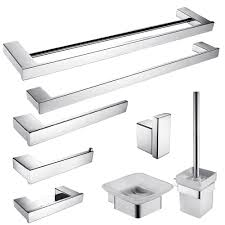modern bathroom accessories sets. Modern Sus304 Stainless Steel Bath Hardware Sets Polished Chrome Bathroom Accessories Set Products N7(