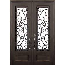 lauderdale dark bronze classic 3 4 lite painted wrought iron prehung front door hardware included