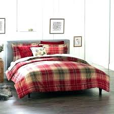 buffalo check duvet cover pottery barn plaid
