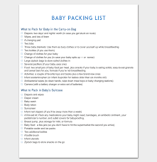 Packing List For Vacation Template Vacation Packing List Template 21 Checklists For Word