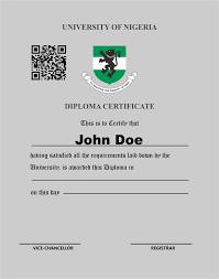 Diploma Certificate Unn E Learning