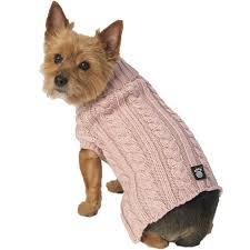 Petrageous Designs Dog Sweater Animal World Marleys Rose Cable Dog Sweater