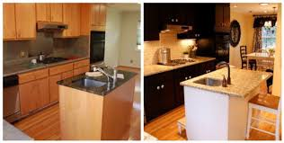 paint kitchen cabinets before and afterKitchen  Alluring Painted Black Kitchen Cabinets Before And After