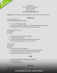 Resume For Internship