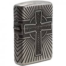 <b>Зажигалка</b> Zippo <b>Armor</b>, Antique Silver, <b>Celtic</b> Cross Design (29667)