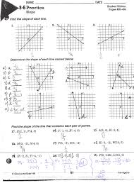 slope of a line worksheet with answer key free pdf with visual geometry worksheets parallel and perpendicular lines worksheets
