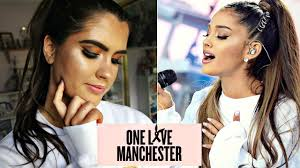 ariana grande one love manchester makeup tutorial