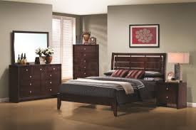 Next Mirrored Bedroom Furniture Square Dark Brown Wooden Nightstand With Drawers Next To Dark