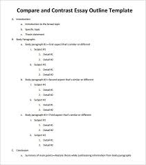 comparison and contrast essay outline examples speech essay  comparison contrast essay example paper