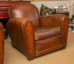 french art deco period leather club chair at 1stdibs brown leather swivel cuddle chair