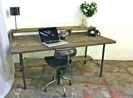 industrial style office desk. Industrial Style Computer Desk Reclaimed Dark Stained Scaffolding Board And Pipe Home Office Desks For Sale