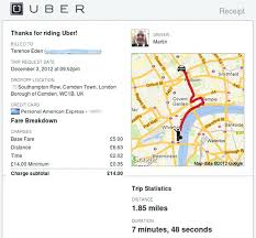 Taxi Receipt Uber Invoice Template Format Gemalog