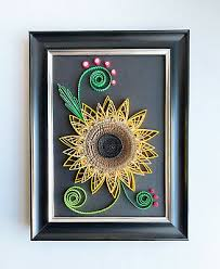 Did you scroll all this way to get facts about paper wall decor? Sunflower Paper Quilling Art Handmade Wall Decor Birthday Gifts By Yjmai Ebay