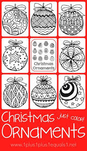 Small Picture Christmas Ornaments Coloring 1111