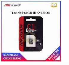 Thẻ nhớ HIKVISION 64GB 92MB/s chuyên dùng cho Camera HIKVISION EZVIZ  KBVISION DAHUA IMOU - Thẻ nhớ Micro SD 64GB HIKVISON - Bảo hành 2 Năm -  Camera số 1