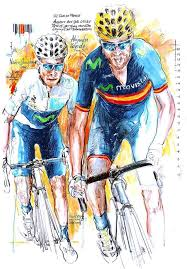 nairo quintana alejandro valverde by horst brozy cycling artroad  on peloton abstract cycling team metal wall art with 337 best photos images on pinterest bicycle bicycles and canvas
