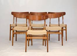 Set of Six Hans Wegner Dining Chairs, CH23 3