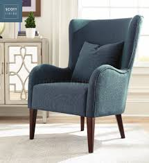 scott living accent chair set of 2 in blue 903370 by coaster