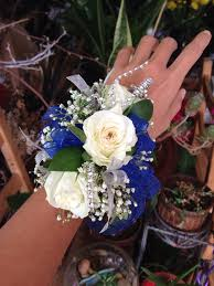 blue magical night wrist corsage home corsage boutonniere blue magical night wrist corsage