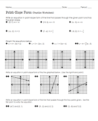 writing equations in point slope form coloring worksheet 447917