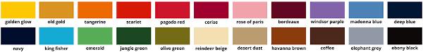 Dylon Dye Colour Chart Dylon Multi Purpose Dye Pro 500g
