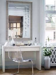 ikea micke desk as makeup vanity with large mirror and ikea student desk and chair