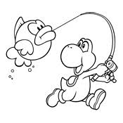 Yoshi Pictures To Color Free Download