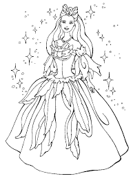 Small Picture Princess Dress Coloring Pages princess barbie coloring pages