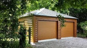 ... Grand Garage Double En Bois ...