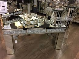 large diamond glitz crystal bricks mirrored glass coffee table slight second