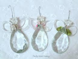 backs of chandelier crystal angel ornaments