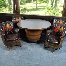 vintage barrel furniture whiskey