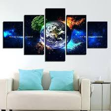 nature canvas wall art earth fire water air sets