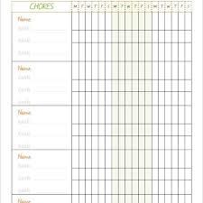Family Chore Chart Printables Teenage Chore Charts Chore