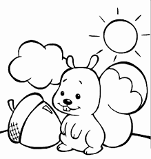 Squirrel Coloring Page Animals Town Animals Color Sheet