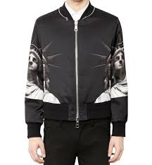 neil barrett statue of liberty print er jacket