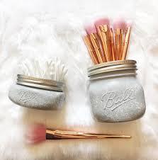 marble makeup brushes. grey marble mason jar, nursery, desk accessories, makeup brush holder, pen pot, storage, organiser brushes