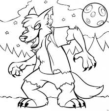 Small Picture Halloween Coloring Pages Werewolf Coolagenet
