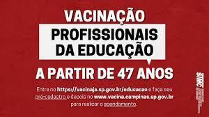 STMC | ATENÇÃO TRABALHADORES/AS DA EDUCAÇÃO: Prefeitura abriu o agendamento  para vacinação contra Covid-19
