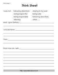 best behavior modification ideas think sheet  3 think sheets for students who break the rules