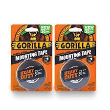 "Gorilla <b>Heavy</b> Duty <b>Double Sided</b> Mounting <b>Tape</b>, 1"" x 60"", Black ..."