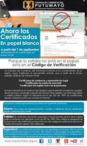 Ahora Los Certificados En Papel Blanco Miputumayo Com Co