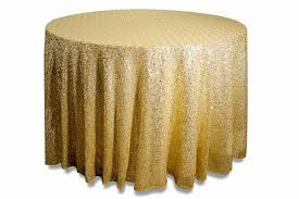 champagne round sequin wedding table cloth 305cm
