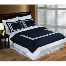modern hotel navy blue white egyptian cotton framed duvet cover set plain navy blue double duvet