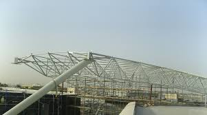 Steel Arch Truss Design Sprung Arch Structure Metal Truss For Airports Spatial