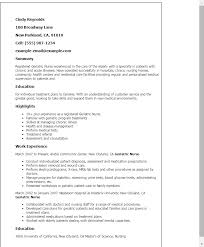 Resume Templates: Geriatric Nurse