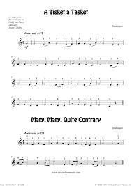 beginning violin sheet for violin