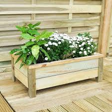 rectangular wooden planter mix and match range large planter 68x41x26